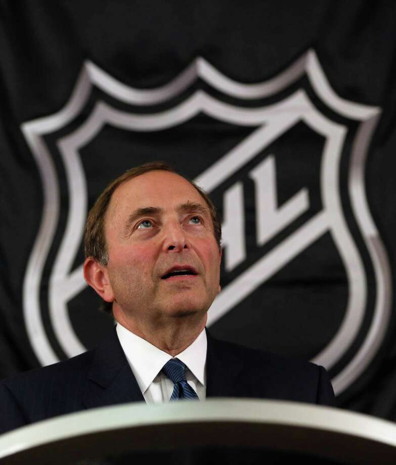 FILE - OCTOBER 4: According to reports October 4, 2012, the NHL has canceled all 82 games scheduled for October 11 through October 24, the first two weeks of the season.  NEW YORK, NY - SEPTEMBER 13:  Commissioner Gary Bettman of the National Hockey League speaks to the media at Crowne Plaza Times Square on September 13, 2012 in New York City.  (Photo by Bruce Bennett/Getty Images) Photo: Bruce Bennett, Getty Images / 2012 Getty Images