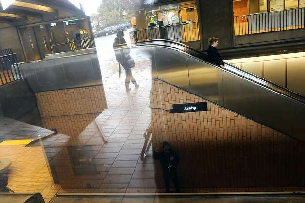 Passengers are seen on the escalators at the Ashby BART stop in Berkeley, CA Friday December 21st, 2012. Photo: Michael Short, Special To The Chronicle