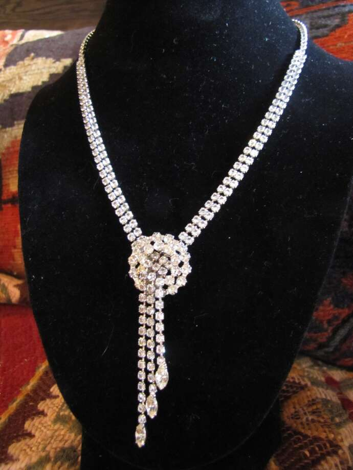 Vintage rhinestone necklace, $15