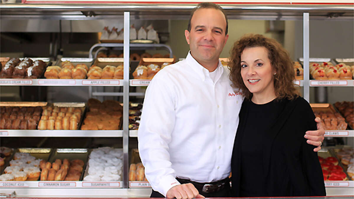 Lawrence Shipley III, and his sister, Sharon A. Shipley, stand at the Shipley Do-Nuts shop at 1209 Dairy Ashford, Tuesday, Dec. 11, 2012, in Houston.