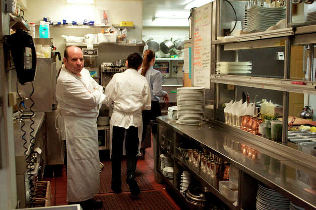 "Chef Jameson Gellar is seen here at his restaurant, Corsecca, in the film ""Acquired Taste."" Photo: Contributed Photo"