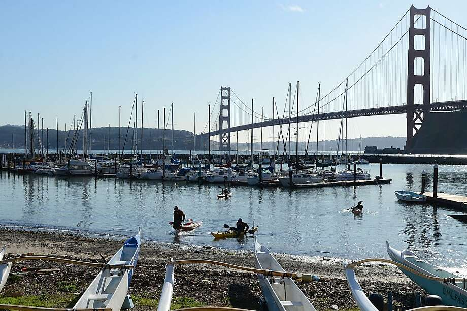 The Fort Baker marina, with its facilities run by the Presidio Yacht Club, is known as one of the Bay Area's best-kept secrets. Photo: Sean Havey, The Chronicle