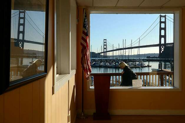 The view from the Presidio Yacht Club on December 19, 2012 in Sausalito, Calif. The National Park Service is interested in expanding the Marina and yacht club at Fort Baker to draw more people. Photo: Sean Havey, The Chronicle