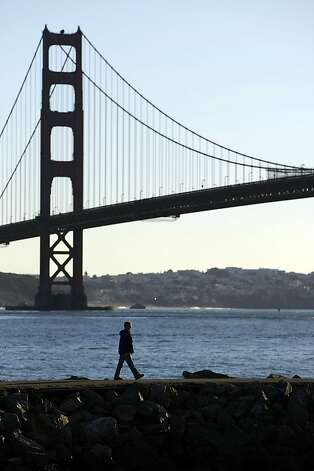 Travis Marina resident, John Collin's, walks to his sailboat on December 19, 2012 in Sausalito, Calif. The National Park Service is interested in expanding the Marina and yacht club at Fort Baker to draw more people. Photo: Sean Havey, The Chronicle