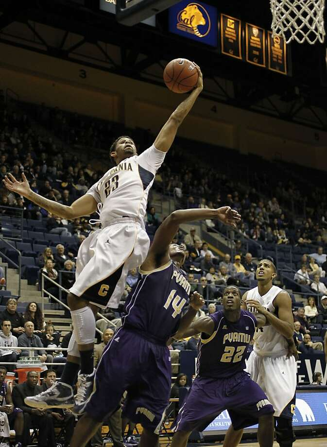 Cal's Allen Crabbe, who scored 23 points, rebounds over Prairie View's Carl Blair. The Bears have one more game before Pac-12 play begins. Photo: Michael Macor, The Chronicle