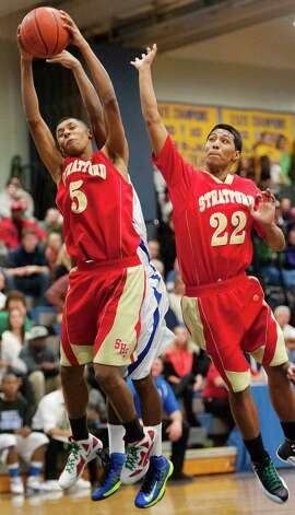 Stratford high school against Bunnell high school in a boys basketball game played at Bunnell high school, Stratford, CT on Saturday, December 22nd, 2012. Photo: Mark Conrad / Connecticut Post Freelance