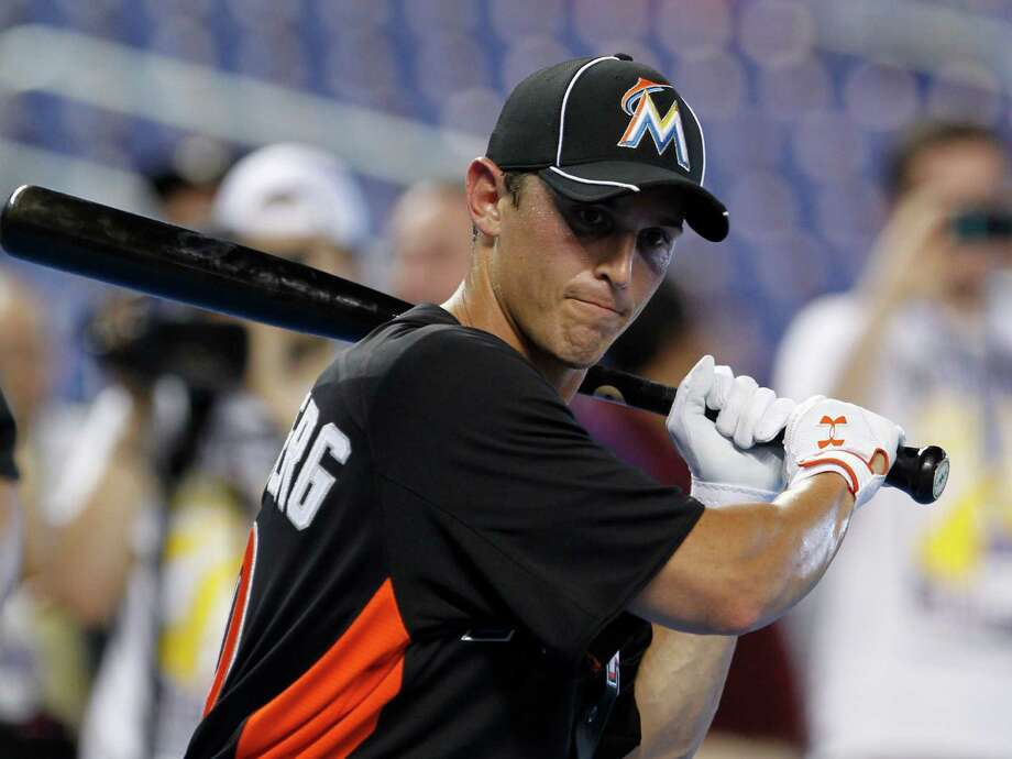 FILE - In this Oct. 2, 2012, file photo, Adam Greenberg prepares for batting practice before a baseball game against the New York Mets in Miami. Greenberg said on Saturday, Dec. 22, 2012, that he has agreed to a minor league contract with the Baltimore Orioles and will have a chance to earn a job at their Triple-A farm team in Norfolk, Va. (AP Photo/Alan Diaz, File) Photo: Alan Diaz
