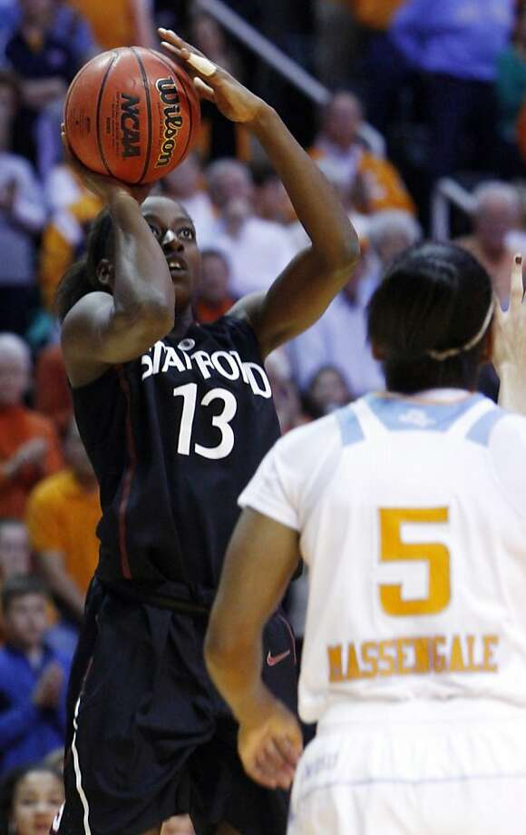Stanford forward Chiney Ogwumike (13) shoots over Tennessee guard Ariel Massengale (5) in the first half of an NCAA college basketball game on Saturday, Dec. 22, 2012, in Knoxville, Tenn. (AP Photo/Wade Payne) Photo: Wade Payne, Associated Press