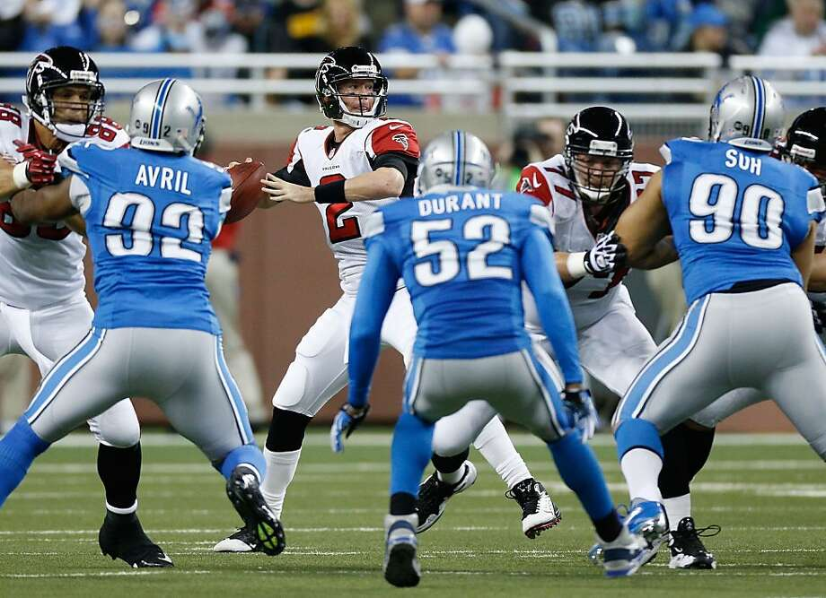 DETROIT, MI - DECEMBER 22:  Matt Ryan #2 of the Atlanta Falcons gets ready to throw a first quarter pass while playing the Detroit Lions at Ford Field on December 22, 2012 in Detroit, Michigan. (Photo by Gregory Shamus/Getty Images) Photo: Gregory Shamus, Getty Images