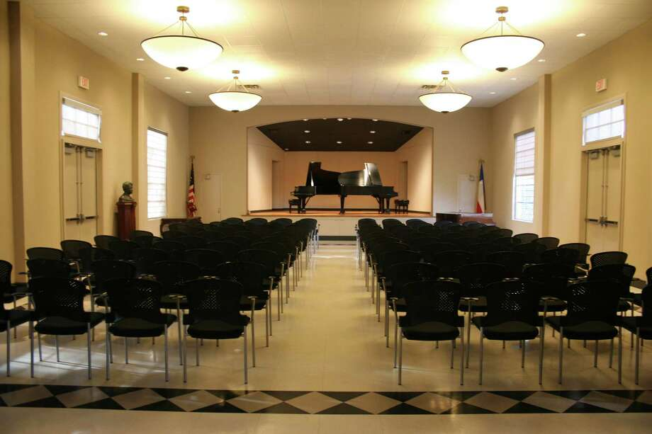 The interior of the Tuesday Musical Club, located at 3755 N. St. Mary's St., was renovated in 2008 to focus on the building's role as a concert hall and to maintain its historical integrity. Photo: Courtesy Sue Ann Pemberton-Haugh