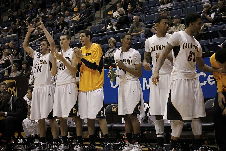 The Cal bench cheers  their teammates as the California Golden Bears went on to beat Prairie View A&M 85-53 in college basketball action at Haas Pavilion in Berkeley, Calif. on Saturday Dec. 22, 2012. Photo: Michael Macor, The Chronicle