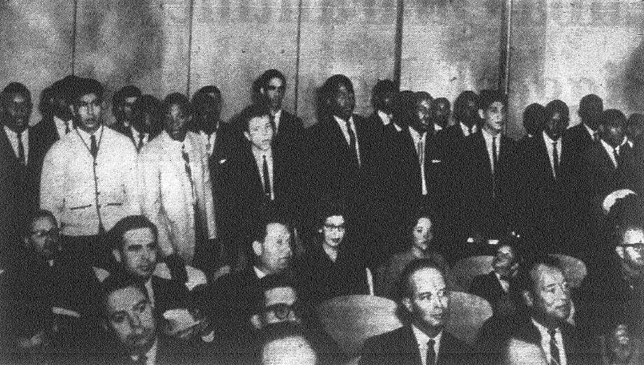 "The Brackenridge 1962 football team is honored by the City of San Antonio. The City Council proclaimed Dec. 26-Jan 25, 1962, as ""Brackenridge Eagles Month in San Antonio."" File photo"