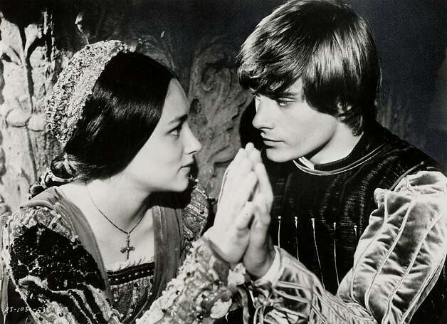 "Olivia Hussey and Leonard Whiting in ""Romeo and Juliet"": A lesson on life. Photo: Handout, SFC"