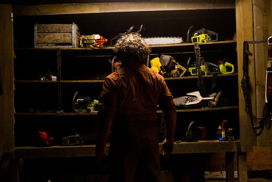 """Dan Yeager stars as Leatherface in """"Texas Chainsaw 3-D,"""" opening Friday at Bay Area theaters. Photo: Justin Lubin, Lionsgate"""