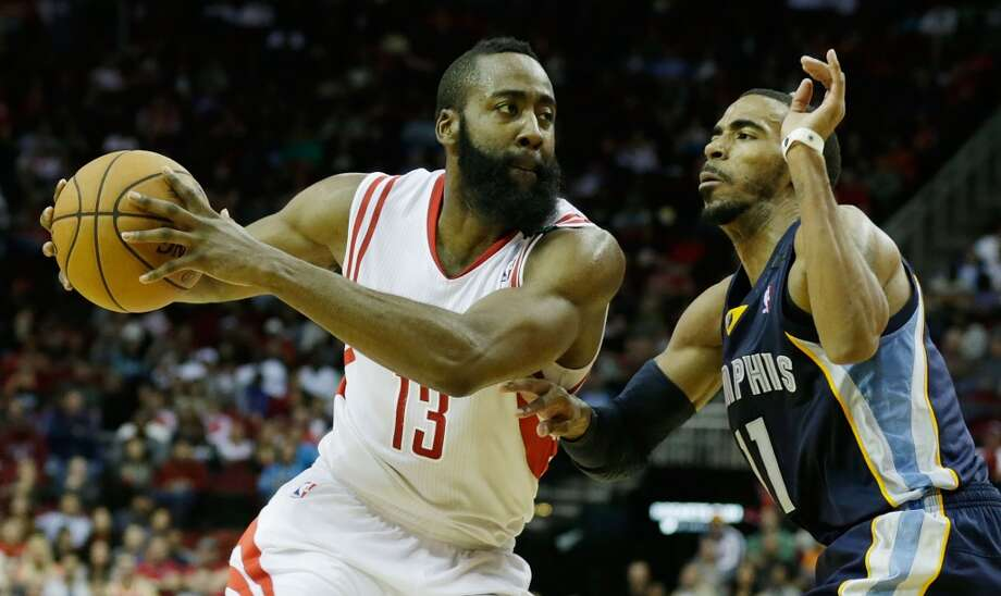 Dec. 22: Rockets 121, Grizzlies 96James Harden of the Rockets drives against Mike Conley of the Grizzlies.  (Scott Halleran / Getty Images)