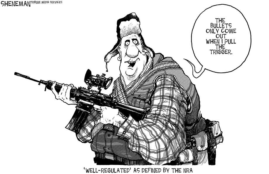 Cartoons via Tribune Media Services. Photo: MCT