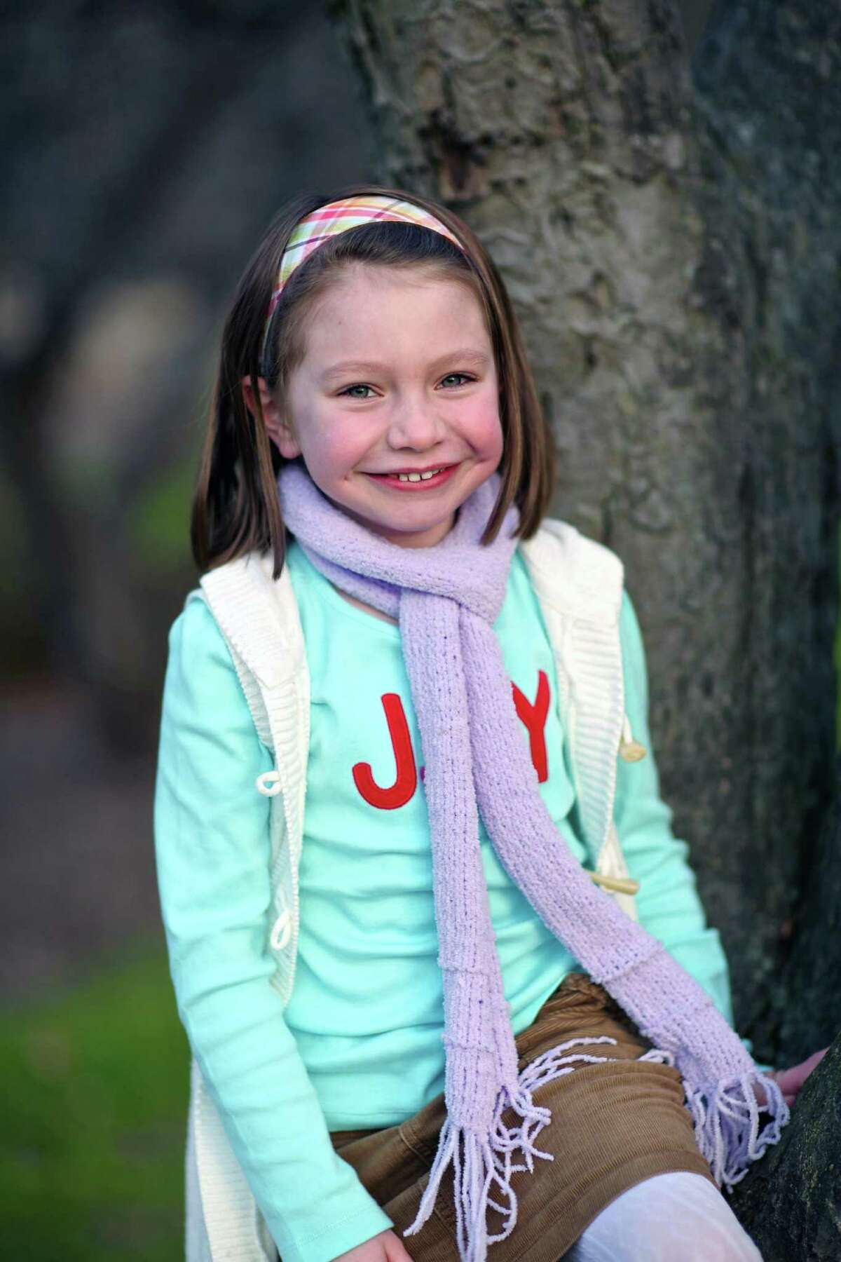 This Nov. 18, 2012 photo provided by John Engel shows Olivia Engel, 6, in Danbury, Conn. Olivia Engel. Olivia Engel, was killed Friday, Dec. 14, 2012, when a gunman opened fire at Sandy Hook Elementary School, in Newtown, Conn., killing 26 children and adults at the school.