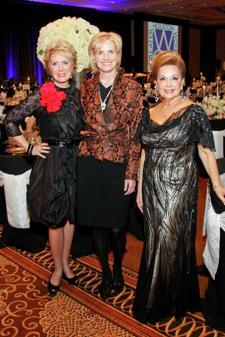 Valerie Gibbs, from left, Dr. Mary Ann Wilkins and Philamena Baird Photo: Greater Houston Women's Chamber