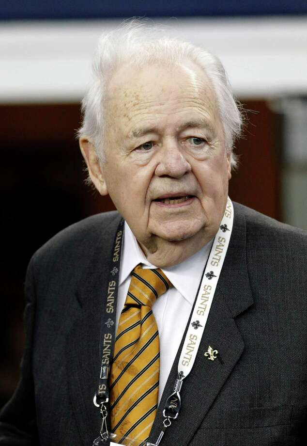 New Orleans Saints team owner Tom Benson looks out from the sidelines before an NFL football game against the Dallas Cowboys Sunday, Dec. 23, 2012 in Arlington, Texas. (AP Photo/Brandon Wade) Photo: Brandon Wade, Associated Press / AP