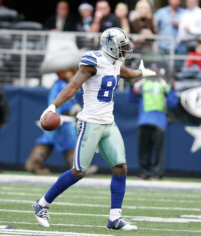 Dallas Cowboys wide receiver Dez Bryant (88) looks for the call after a reception during the first half of an NFL football game against the New Orleans Saints  Sunday, Dec. 23, 2012 in Arlington, Texas. (AP Photo/Sharon Ellman) Photo: Sharon Ellman, Associated Press / AP