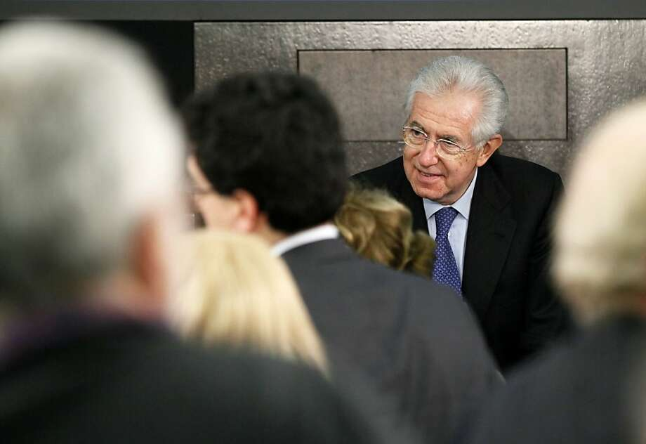 Mario Monti, Italy's caretaker prime minister, has boosted confidence in the country's finances. Photo: Alessia Pierdomenico, Bloomberg