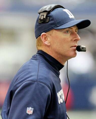 Dallas Cowboys' head coach Jason Garrett walks the sidelines during first half action against the New Orleans Saints Sunday Dec. 23, 2012 at Cowboys Stadium in Arlington, Tx. Photo: Edward A. Ornelas, Express-News / © 2012 San Antonio Express-News