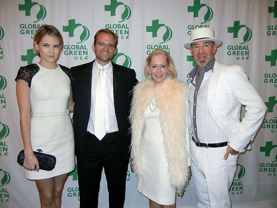 Cody Horn (left) with Global Green USA President Matt Petersen, Wendy Schmidt and Christopher Bently. Photo: Catherine Bigelow, Special To The Chronicle