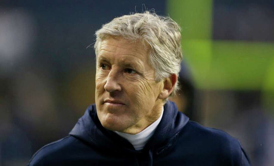 Seattle Seahawks head coach Pete Carroll is shown on the field prior to an NFL football game against the San Francisco 49ers, Sunday, Dec. 23, 2012, in Seattle. Photo: AP