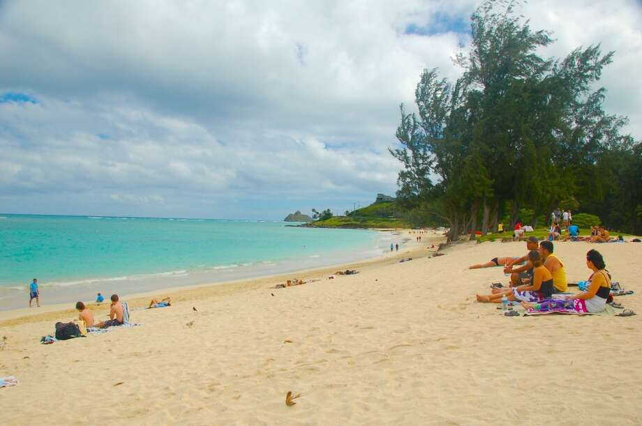 The Obamas have rented a vacation home in Kailua, near this popular beach park, during their last several trips to Oahu. (Jeanne Cooper / SFGate)