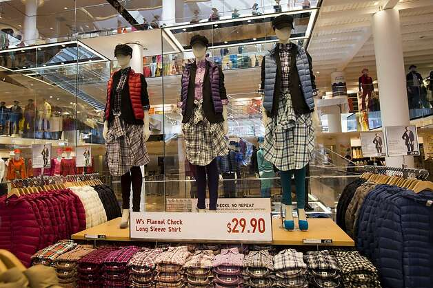 Oct. 5: Uniqlo opens a 29,000-square-foot space near the Powell Street cable car turnaround. Ultra-lightweight puffer jackets from the Japanese retailer's first West Coast store become ubiquitous in many Bay Area microclimates. Photo: Stephen Lam, Special To The Chronicle