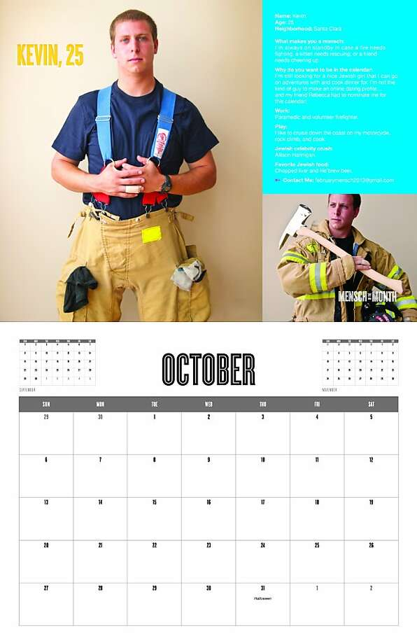 "These are images from the calendar, ""Mensch of the Month 2013."" Photo: Courtesy Of Dana Hall"