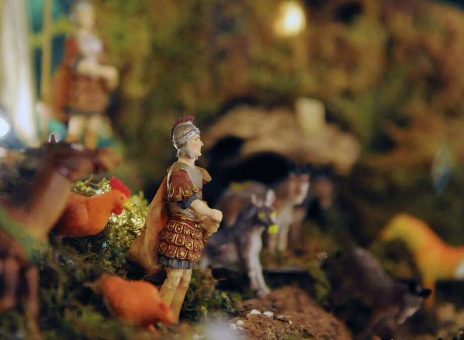 Figurines are shown in Ralph Micale?s massive Nativity scene which he sets up each year in his Colonie, N.Y. Home, Monday Dec. 10, 2012. (Will Waldron / Times Union) Photo: Will Waldron