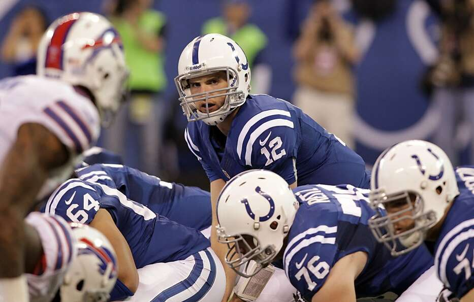 Indianapolis Colts quarterback Andrew Luck during the first half of an NFL football game against the