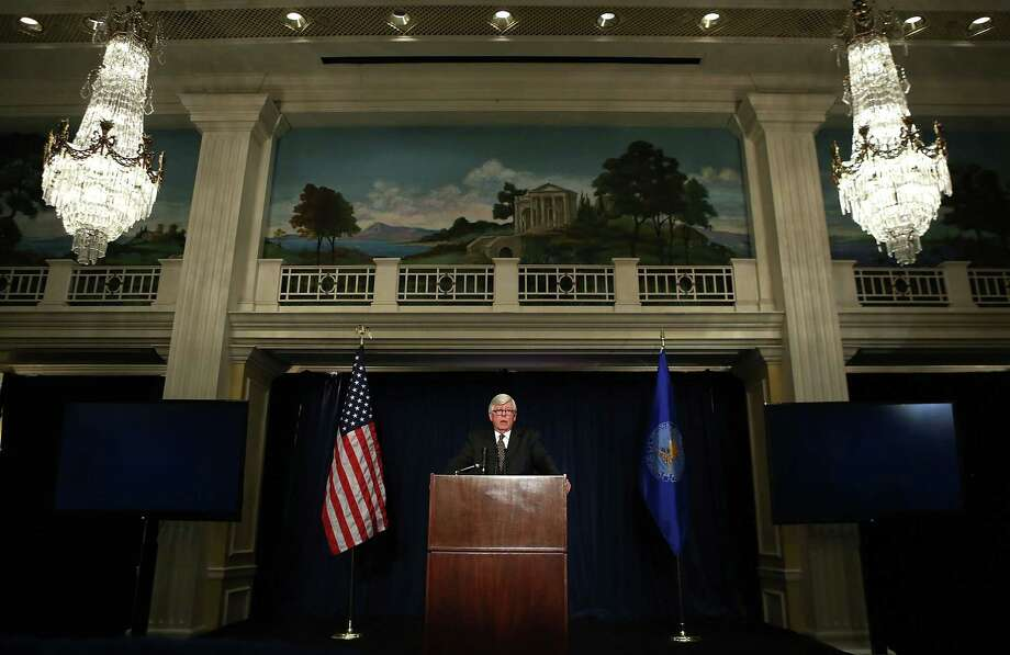 WASHINGTON, DC - DECEMBER 21:  National Rifle Association President David Keene speaks at a news conference at the Willard Hotel December 21, 2012 in Washington, DC. This is the first public appearance that leaders of the gun rights group have made since a 20-year-old man used a popular assault-style rifle to slaughter 20 school children and six adults at Sandy Hook Elementary School in Newtown, Connecticut, one week ago.  (Photo by Alex Wong/Getty Images) Photo: Alex Wong / 2012 Getty Images