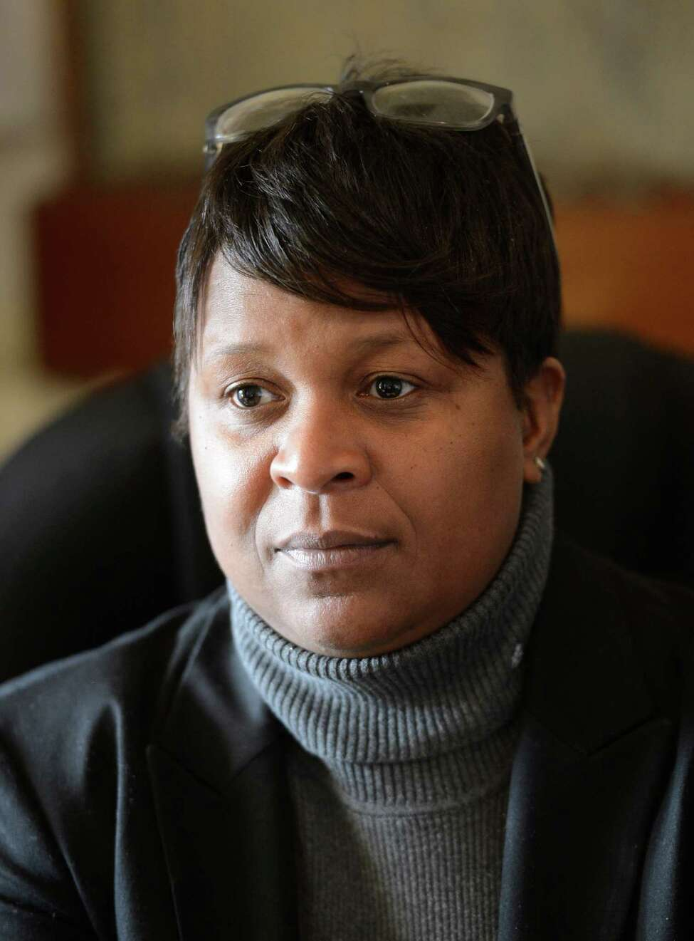 Tandra LaGrone, Executive Director of In Our Voices in Albany, N.Y. Dec 14, 2012. (Skip Dickstein/Times Union)