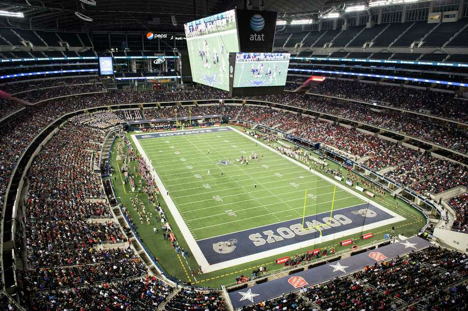 A crowd of 48,379 watches Lamar face Allen during the first half of the Class 5A Division I state championship football game at Cowboys Stadium. Photo: Smiley N. Pool, Houston Chronicle / © 2012  Houston Chronicle