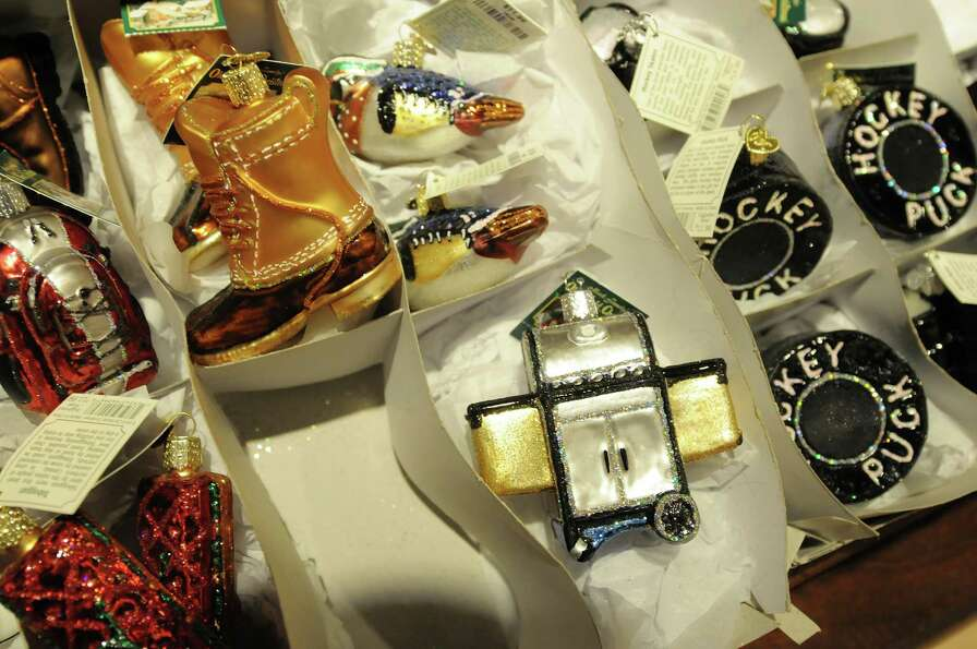 Ornaments marketed towards men are seen at Wit's End Giftique on Sunday, Dec. 23, 2012 in Clifton Pa