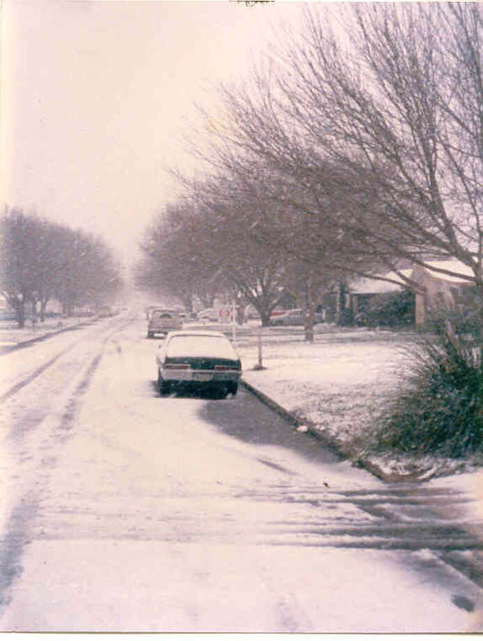More than 13 inches of snow fell Jan. 12-13, 1985, setting a record. Photo: San Antonio Express-News File Photo