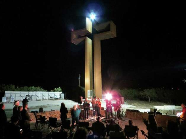 "Kerrville cross ""Sanctioned"" event, ""Music & Ministry"". This event is held at the cross on the first Monday night of each month. Photo: Max Greiner, Courtesy Photo"