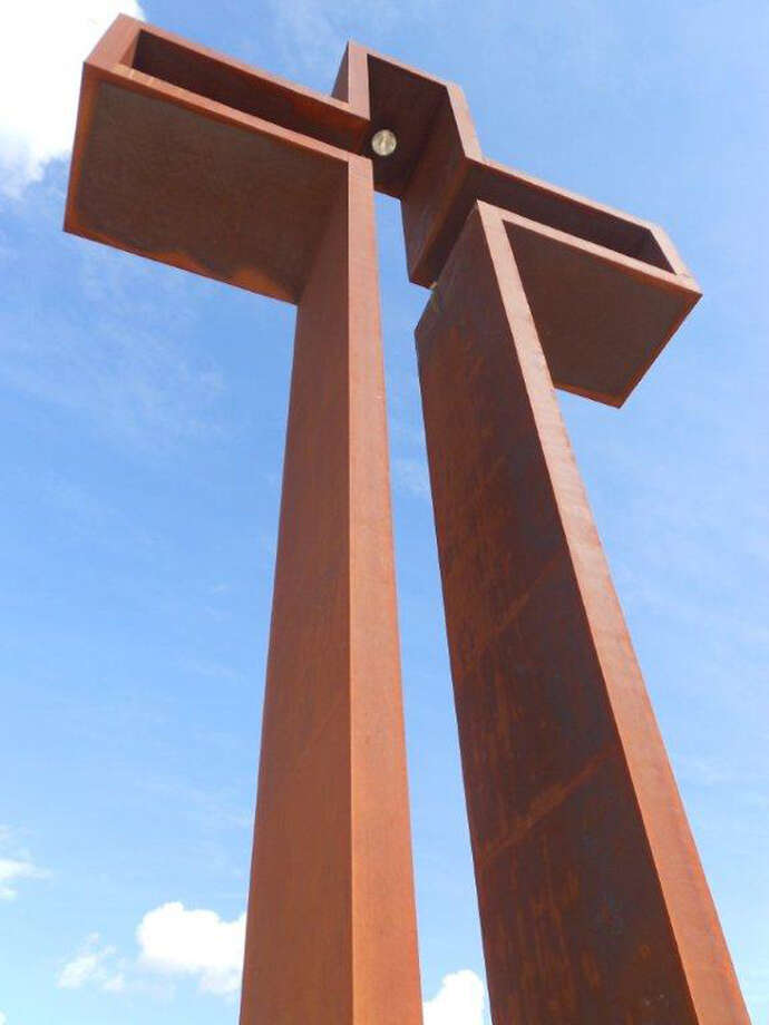"Max Greiner Jr. designed ""The Empty Cross"" that stands atop the unfinished Coming King Sculpture Prayer Garden in Kerrville. Photo: Max Greiner, Courtesy Photo"