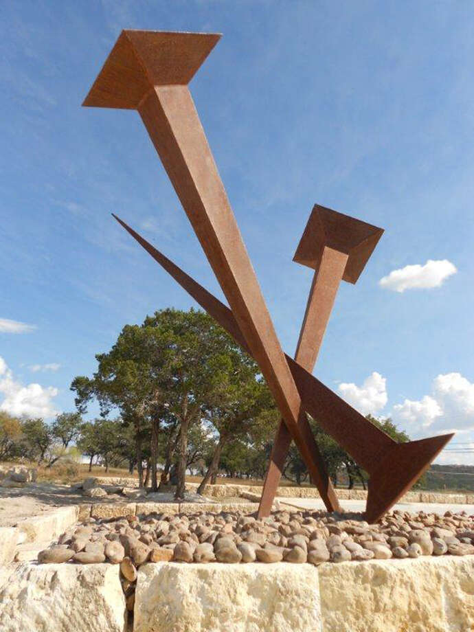 A sculpture at the unfinished Coming King Sculpture Prayer Garden in Kerrville. Max Greiner designed many of the sculptures there. Photo: Max Greiner, Courtesy Photo
