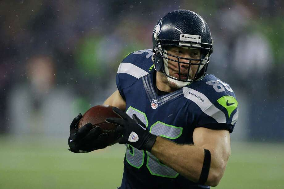 Seattle Seahawks' Zach Miller in action against the San Francisco 49ers in the first half of an NFL football game, Sunday, Dec. 23, 2012, in Seattle. Photo: AP