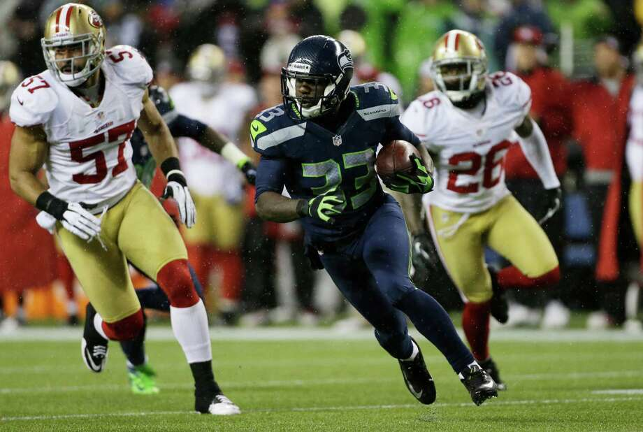 Seattle Seahawks' Leon Washington in action against the San Francisco 49ers in the first half of an NFL football game, Sunday, Dec. 23, 2012, in Seattle. Photo: AP