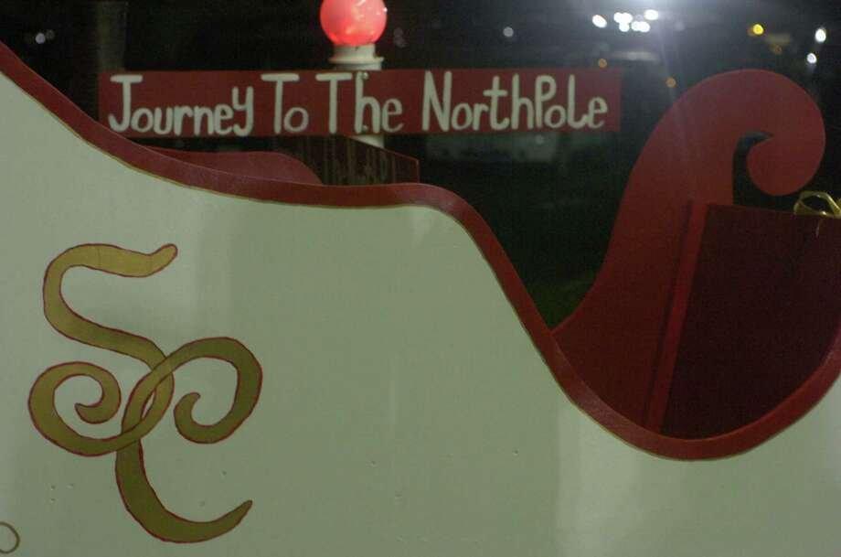 "Santa's sleigh was at the ready to hold patrons and photo opportunities Sunday at Journey Community Church's ""Journey to the North Pole"" in Lumberton. Photo: Avi Zaleon1"