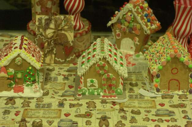 "Gingerbread houses are on display for Journey Community Church's ""Journey to the North Pole"" Sunday in Lumberton. Photo: Avi Zaleon"