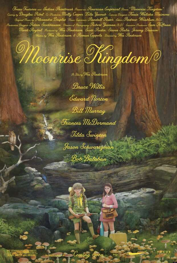 Entertainment Weekly # 12 - MOONRISE KINGDOMMaybe the poster that most evokes the feel and mood of the movie it promotes. Moonrise Kingdom, my favorite movie of the year (so far), is all storybook and realistic fantasy (fantastical reality?).