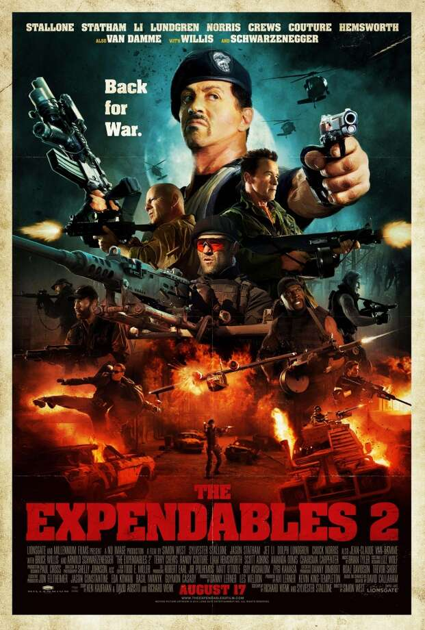 Entertainment Weekly # 18 - THE EXPENDABLES 2Not sure what EW is thinking here. I guess it can be seen as an homage to action movies of yesteryear.