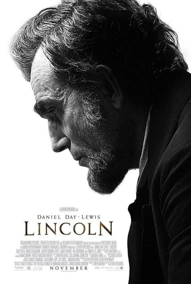 LINCOLNSmart thinking. When you have maybe the most iconic figure in American history brought to life by possibly the best actor working today, keep it simple, strong and stark. The profile shot is clever - hey, it's like our money! - and the deep shadows perfectly evoke the 16th President's dark and doomed legacy, as well as the movie's moody lighting.