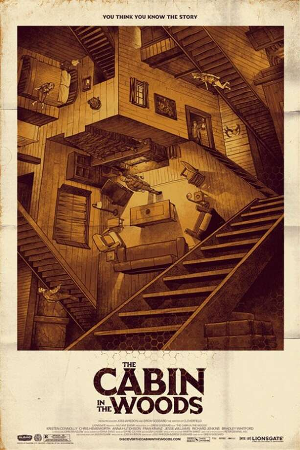 THE CABIN IN THE WOODSMaybe it was too esoteric for mainstream audiences, but this  M.C. Escher-inspired artwork is beautiful and sinister. And its tricky and confounding visuals give a taste of the better-than-you-think thriller's plot.
