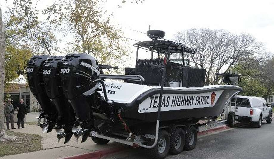 Department of Public Safety boats  outfitted with armor protection and hefty engines are deployed to the Rio Grande and other South Texas waterways COURTESY PHOTO